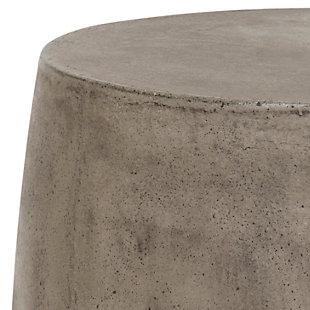 Reganne Concrete Accent Table, Dark Gray, large