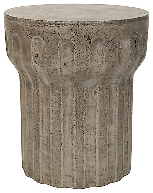 Safavieh Vesta Concrete Accent Table, Dark Gray, rollover