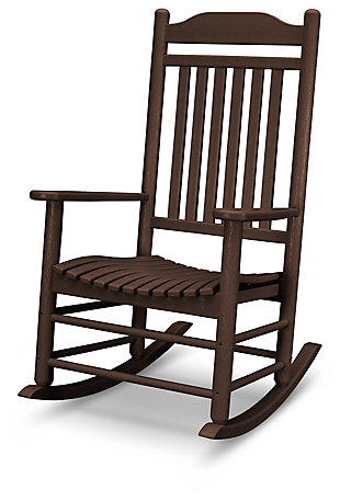 POLYWOOD Emerson All Weather Southern Rocker, Mahogany, rollover