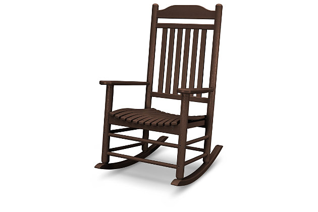 POLYWOOD Emerson All Weather Southern Rocker, Mahogany, large