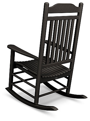 POLYWOOD Emerson All Weather Southern Rocker, Black, large
