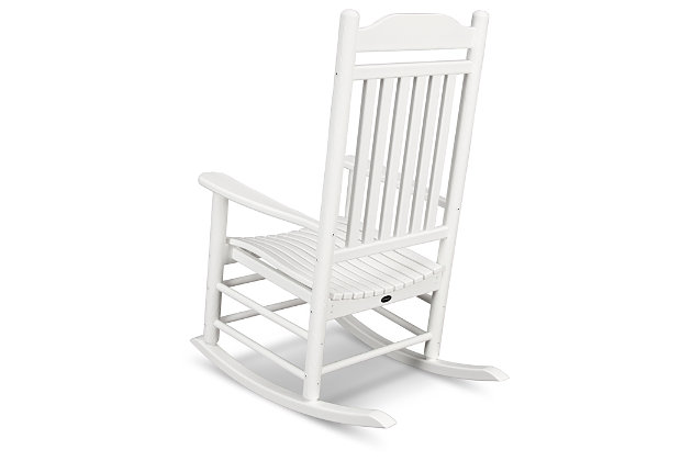 POLYWOOD Emerson All Weather Southern Rocker, White, large