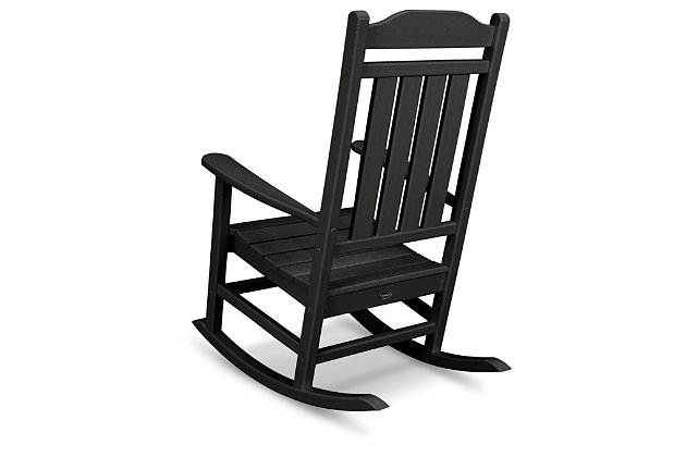 POLYWOOD Emerson All Weather Rocker, Black, large