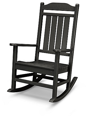 POLYWOOD Emerson All Weather Rocker, Black, ...