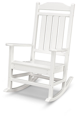 POLYWOOD Emerson All Weather Rocker, White, large