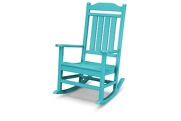 POLYWOOD Emerson All Weather Rocker by Ashley HomeStore, Turquoise
