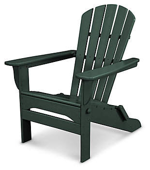 POLYWOOD Emerson All Weather Shellback Adirondack Chair, Green, large