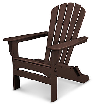 POLYWOOD Emerson All Weather Shellback Adirondack Chair, Mahogany, large