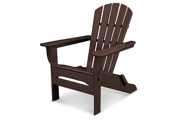 POLYWOOD Emerson All Weather Shellback Adirondack Chair, Mahogany, large