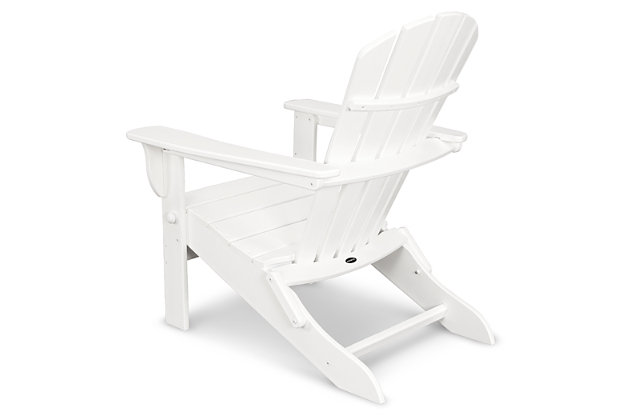 POLYWOOD Emerson All Weather Shellback Adirondack Chair, White, large