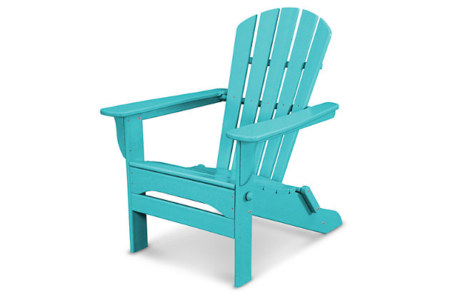 POLYWOOD Emerson All Weather Shellback Adirondack Chair by Ashley HomeStore, Turquoise
