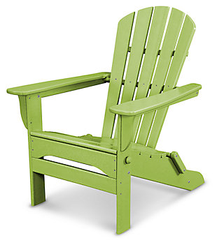 POLYWOOD Emerson All Weather Shellback Adirondack Chair, Lime, large