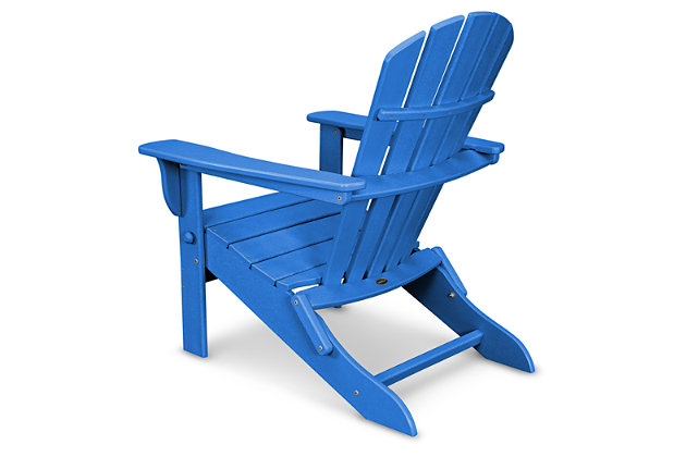POLYWOOD Emerson All Weather Shellback Adirondack Chair, Pacific, large
