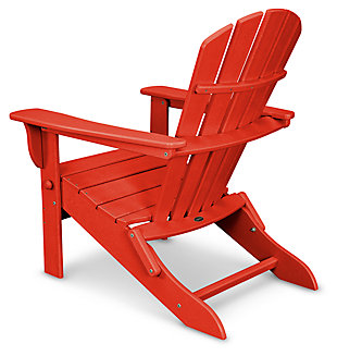 POLYWOOD Emerson All Weather Shellback Adirondack Chair, Red, large
