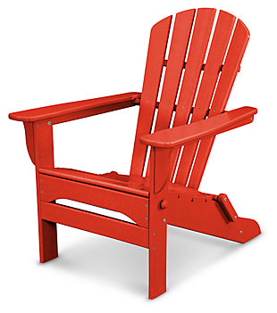 POLYWOOD Emerson All Weather Shellback Adirondack Chair, Red, rollover