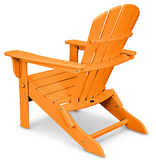 POLYWOOD Emerson All Weather Shellback Adirondack Chair, Tangerine, large