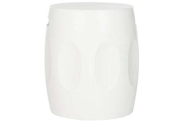 Safavieh Zuri Concrete Accent Table, Ivory, large