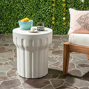 Safavieh Vesta Concrete Accent Table, , large
