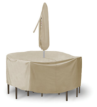 "Patio Round 48"" - 54"" Table and High Back Chairs Cover, , large"