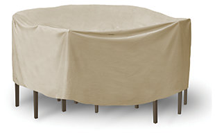 "PCI Round 48"" - 54"" Patio Table and High Back Chairs Cover, , large"