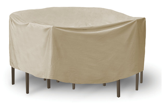 "Patio Round 60"" Table and High Back Chairs Cover, , large"