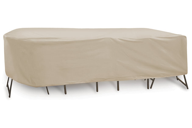 """Patio Oval/Rectangular 72""""- 76"""" Table and Chairs Cover, , large"""