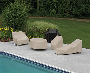 Patio Wicker Chaise Cover, , large