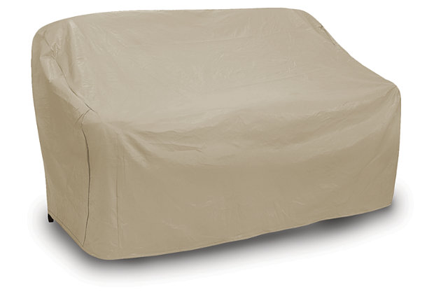 Patio Oversized 3-Seat Wicker Sofa Cover, , large