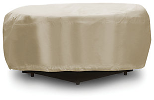 Patio Round Fire Pit Table Cover, , large