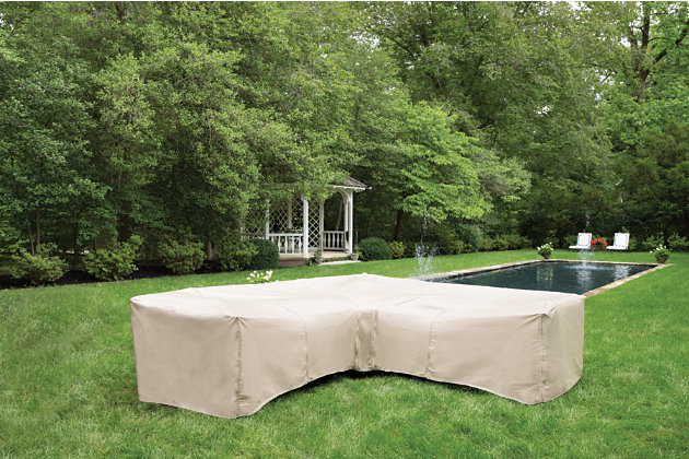 Patio 7-Piece Sectional and Ottoman Cover, , large