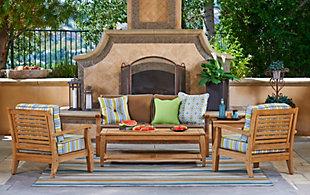 North Cape Laguna Teak Sofa with Sunbrella® Cushion, , large