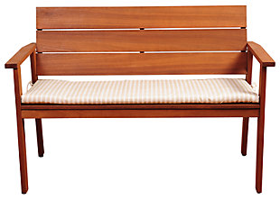 "Nelson 49"" Eucalyptus Patio Bench, , large"