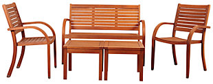 Amazonia 5-Piece Eucalyptus Seating Set, , large