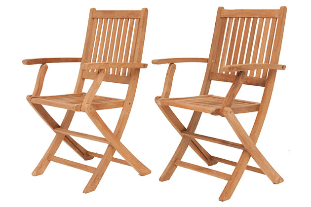 Amazonia Yogya Folding Arm Chair (Set of 2), , large