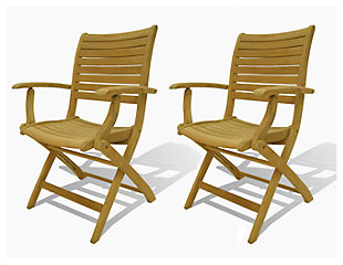 Yogya Folding Arm Chair (Set of 2), , large