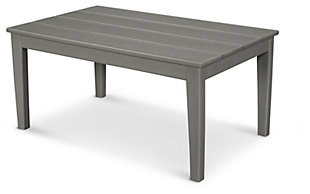 POLYWOOD Newport Coffee Table, Slate, large