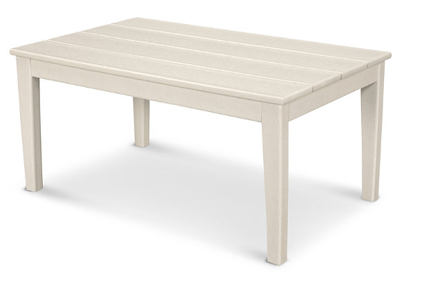 POLYWOOD Newport Coffee Table, Sand, large