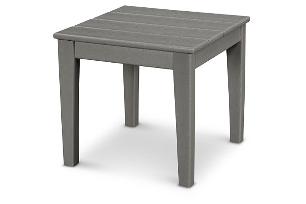 "POLYWOOD Newport 18"" End Table, Slate, large"