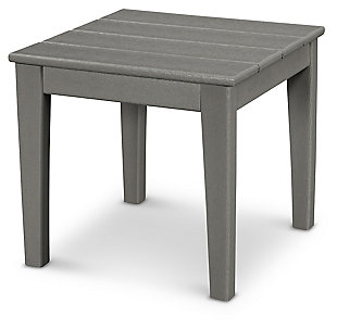 """POLYWOOD Newport 18"""" End Table, Slate, rollover"""