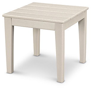 "POLYWOOD Newport 18"" End Table, Sand, rollover"