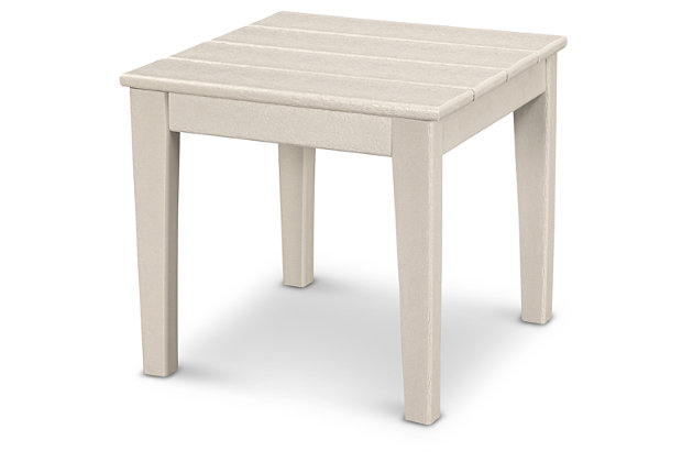 "POLYWOOD Newport 18"" End Table, Sand, large"