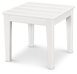 "POLYWOOD Newport 18"" End Table, White, large"
