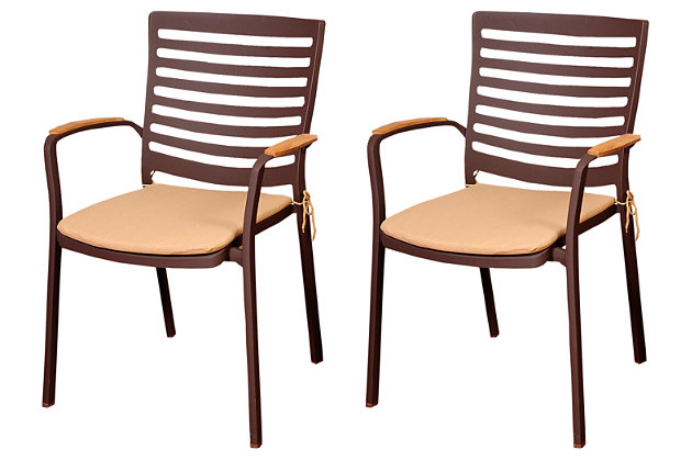 Clemente Teak/Cast Aluminum Arm Chair (Set of 4), , large