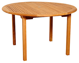 Clemente Round Teak Table, , large