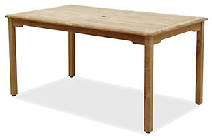 Clemente Rectangular Teak Table, , large