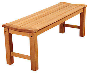 "Guam 51"" Teak Patio Backless Bench, , rollover"