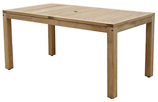 Guam Rectangular Teak Table, , large