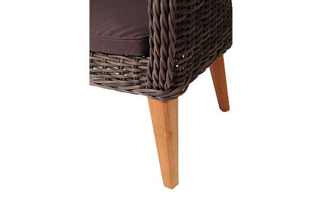 Amazonia Guam Teak/Wicker Arm Chair Set (Set of 2), , large