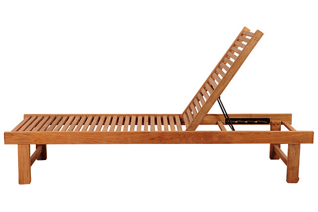 Amazonia Nias Teak Lounger by Ashley HomeStore, Brown