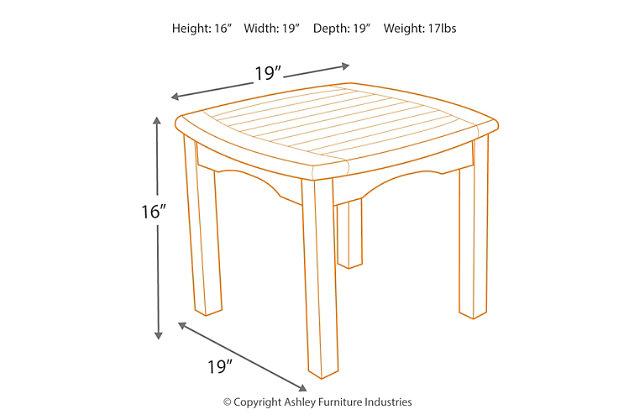 Intan Teak Square Side Table, , large